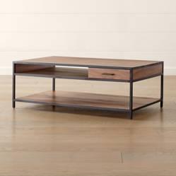 Crate & Barrel - Mesa de Centro Knox 121 cm.