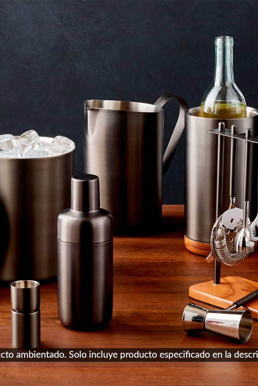 Crate & Barrel - Set x4 Coctelería Acero Inoxidable
