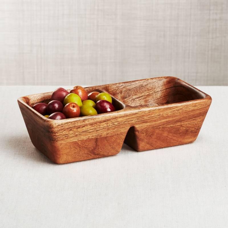 Crate & Barrel - Bandeja Acacia Carson