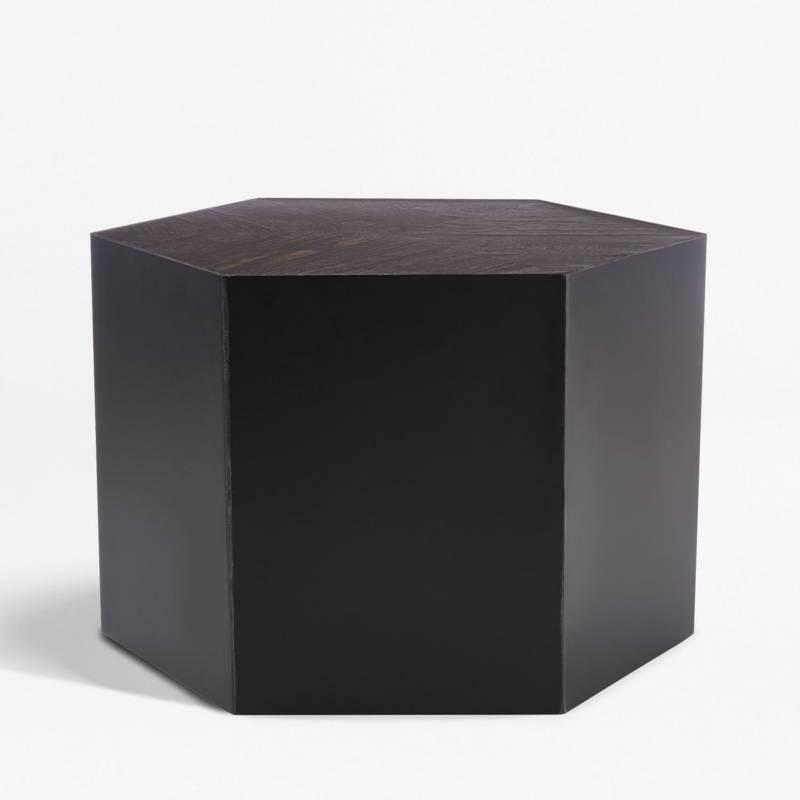 Crate & Barrel - Mesa de Centro Geo Baja 34 cm.