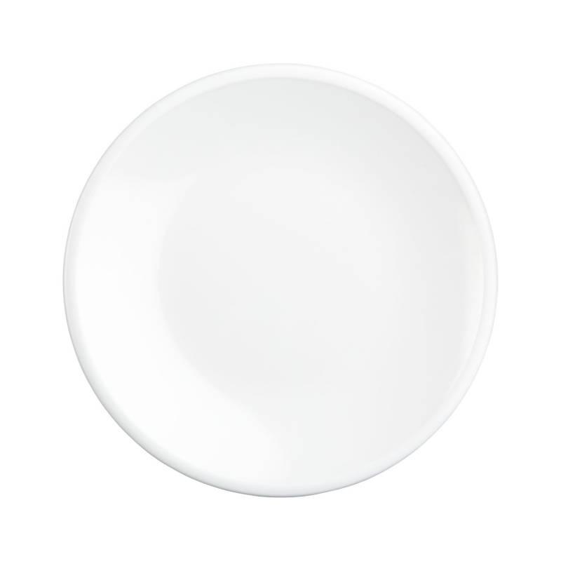 Crate & Barrel - Plato para Ensalada de Melamina Lunea de 22 cm Blanco