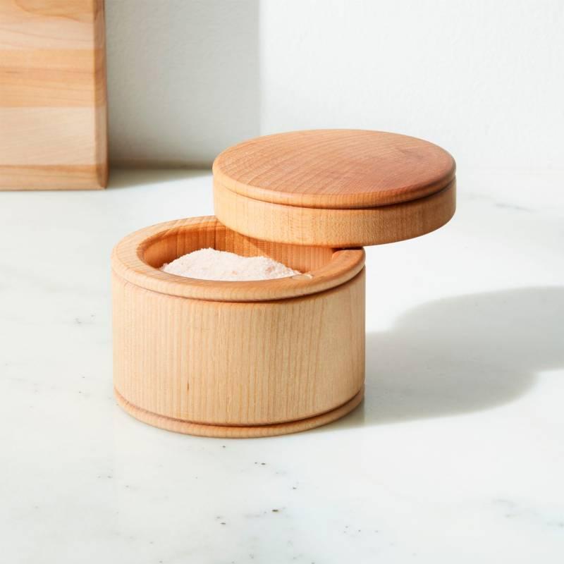 Crate & Barrel - Salero en Madero Fletchers