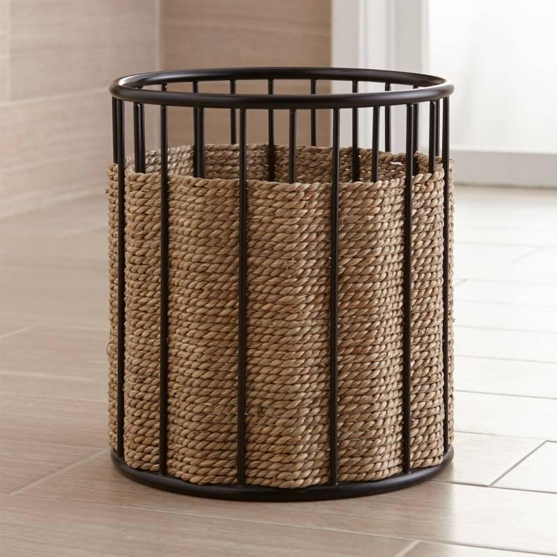 Crate & Barrel - Papelera de Fibra Marina Barros