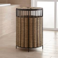 Crate & Barrel - Canasto Barros Redondo con Tapa