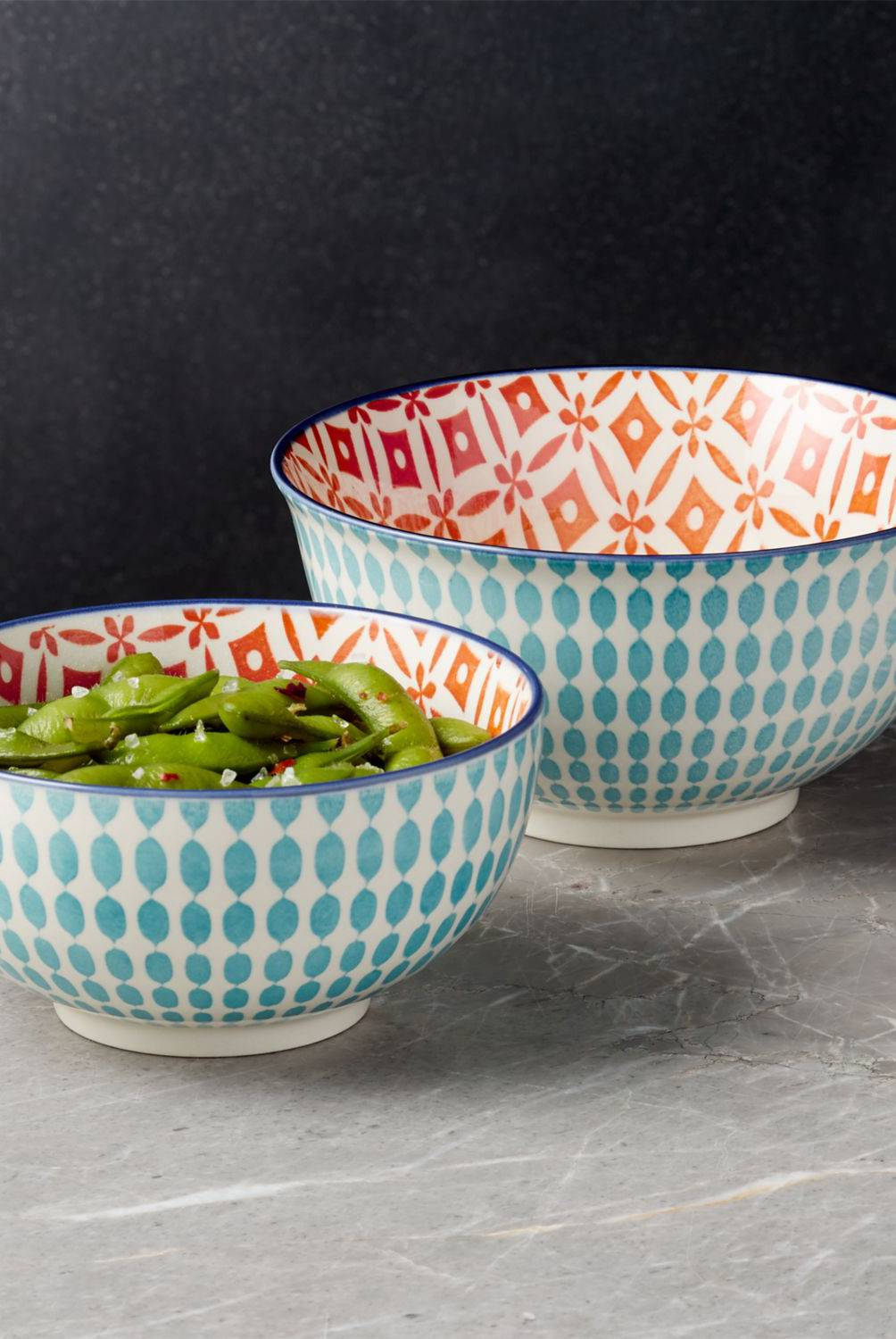 Crate & Barrel - Bowl de noodles Yuki Azul