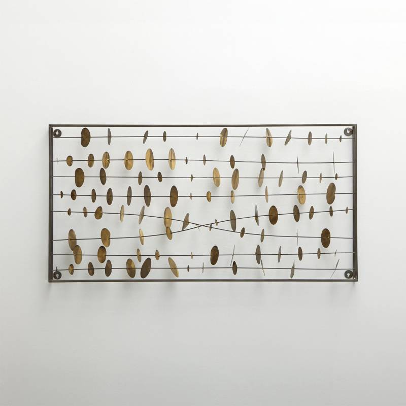 Crate & Barrel - Escultura para Pared de Metal Chimes