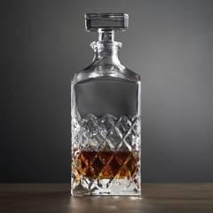 Crate & Barrel - Decantador de Whiskey Hatch 946 ml.