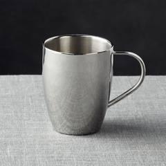 Crate & Barrel - Mug de Acero Inoxidable 11 cm.