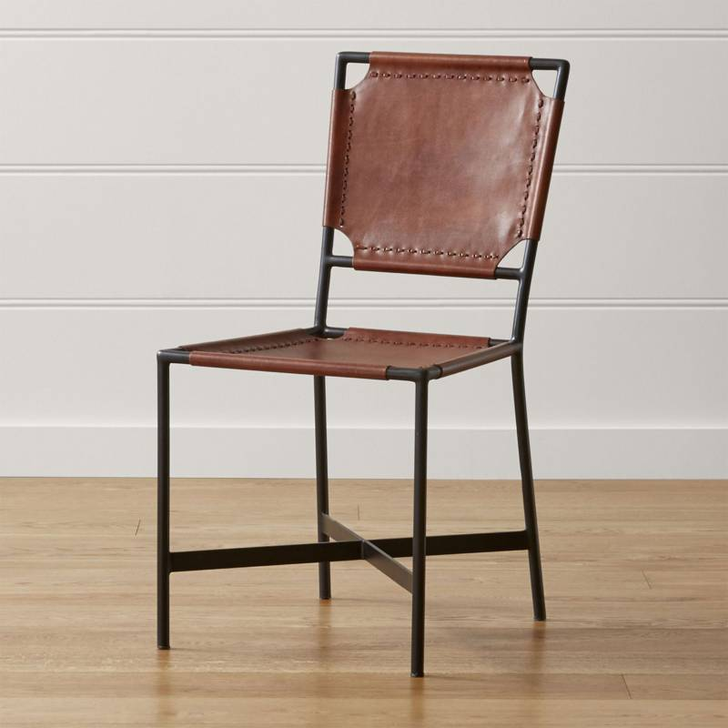 Crate & Barrel - Silla Laredo Leather
