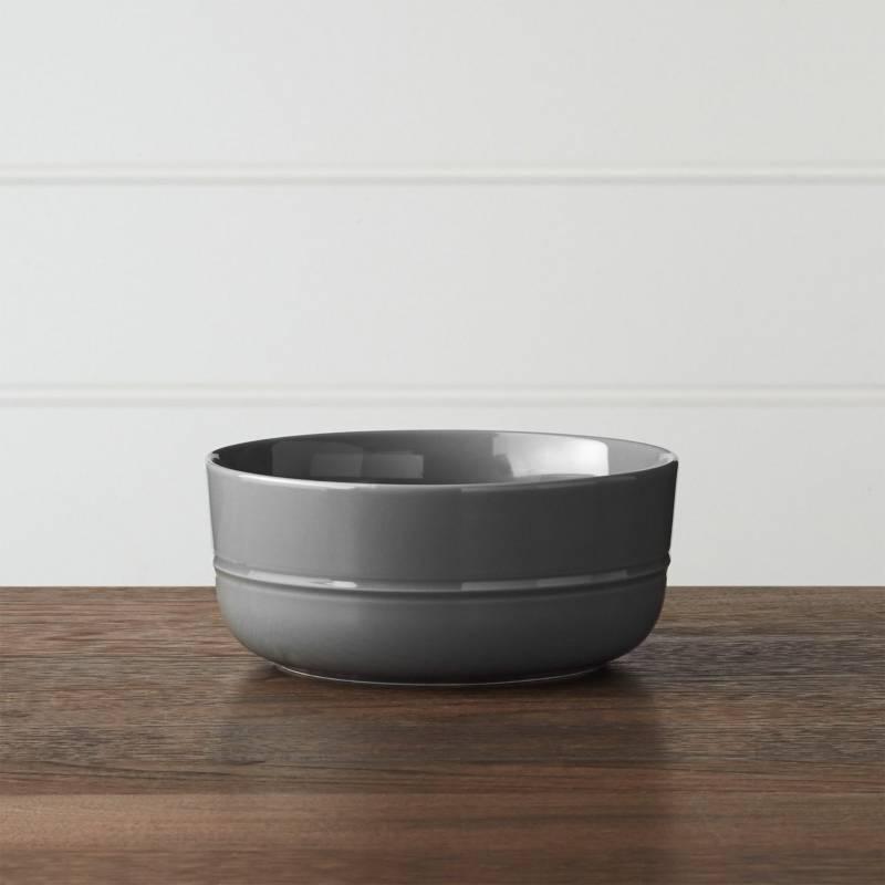 Crate & Barrel - Bowl Hue Gris Oscuro