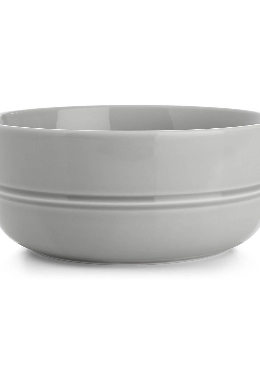 Crate & Barrel - Bowl Hueso Gris Claro