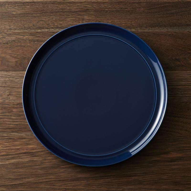 Crate & Barrel - Plato Principal Hue Azul Marino 26 cm
