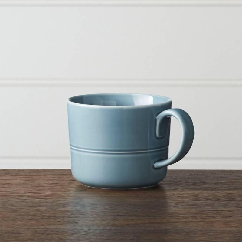 Crate & Barrel - Mug Hue Celeste 10 cm