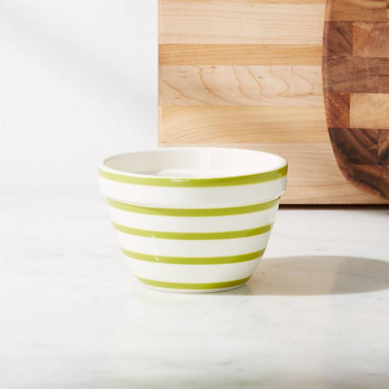 Crate & Barrel - Mini Bowl a Rayas Avery Verde