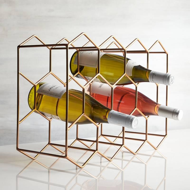 Crate & Barrel - Rack de Vinos Copper (11 Botellas)