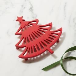 Posacaliente Árbol de Navidad Rojo