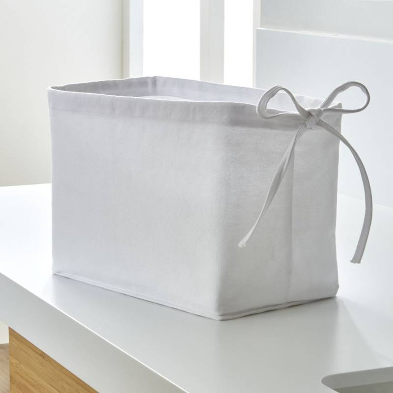 Crate & Barrel - Funda Blanca para Canasta Pequeña