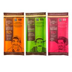 Juanchoconat - Combo 3 Barras Sabores Naranja, Limon y Café