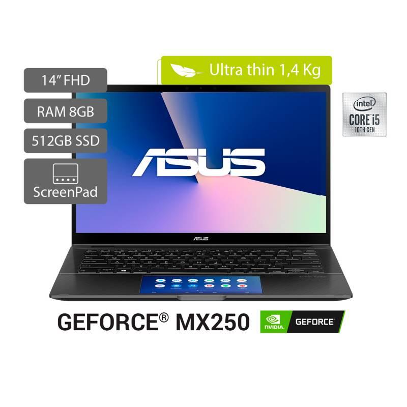 Asus - Portátil 2 en 1 Asus ZenBook Flip 14 pulgadas Intel Core i5 8GB 512GB