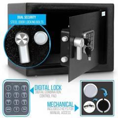 SERENELIFE - Caja de seguridad con cerradura digital con anulac