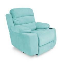 Relax Home - Reclinable Houston Mecedora Giratoria Microfibra
