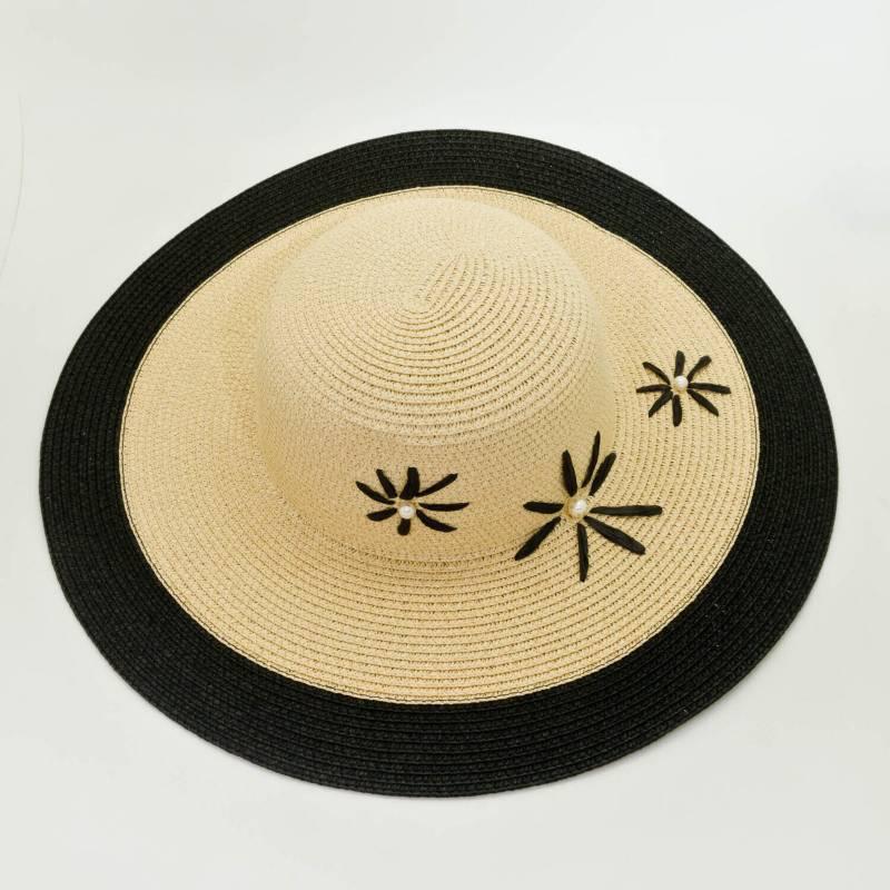 AZ ACCESSORIES - Sombrero Pava Mujer Flor Negro Az Accesorios
