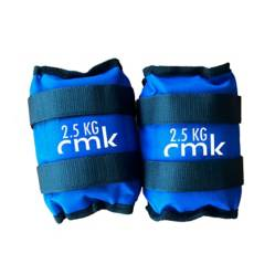 CMK - Pesas Tobilleras 5 Kg Azul