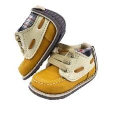 Zapaticos Notuerce - Zapato notuerce bebe niño apache mostaza