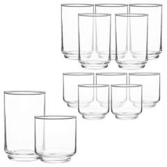 Mica - Set x 12 vasos 6 Altos - 6 Cortos