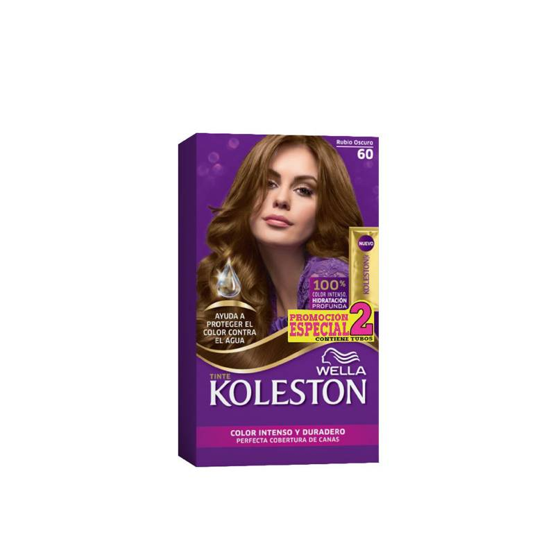Wella Consumo - Kit Tinte Doble Tubo Koleston Rubio Oscuro