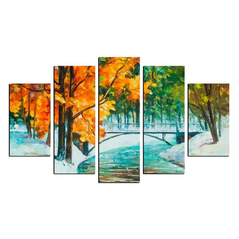 Art Industry - Cuadro Decorativo Snow  100 x 70 cm Art Industry
