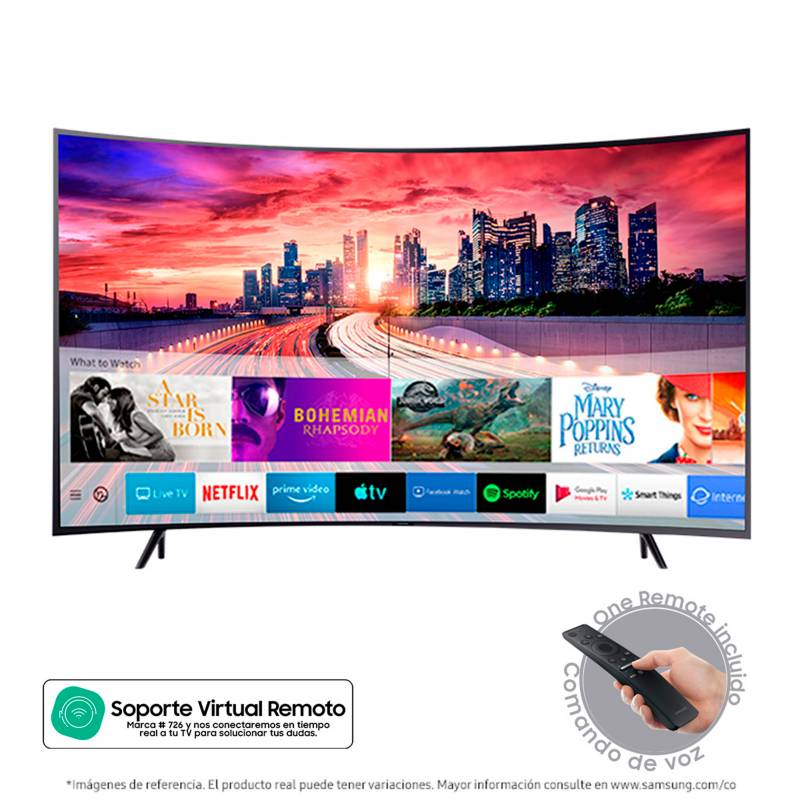 Samsung - Televisor Samsung 65 pulgadas Curvo LED 4K Ultra HD Smart TV