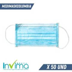 Marfil - Caja de tapabocas termosellados quirurgico x 50