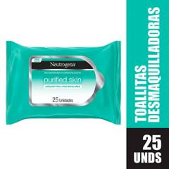 Neutrogena - Toallitas desmaquillantes Neutrogena purified skin x 25 unidades