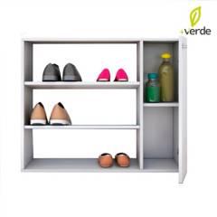 DKO Design - Mueble Multiusos Zapatero Blanco