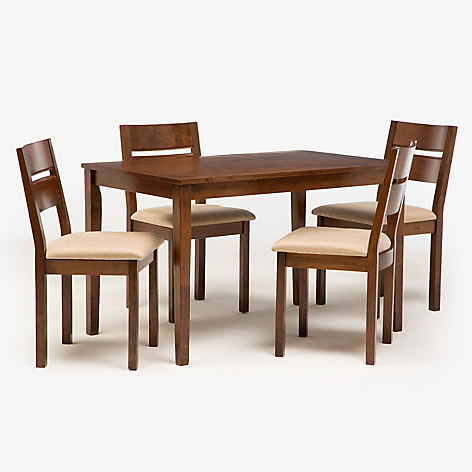 Mica juego comedor envy 4 puestos for Comedor 4 sillas falabella