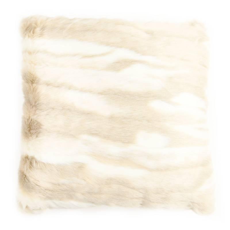 Basement Home - Cojín Piel Blanco 45 x 45 cm