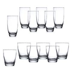 Mica - Set x12 Vasos Geneve New