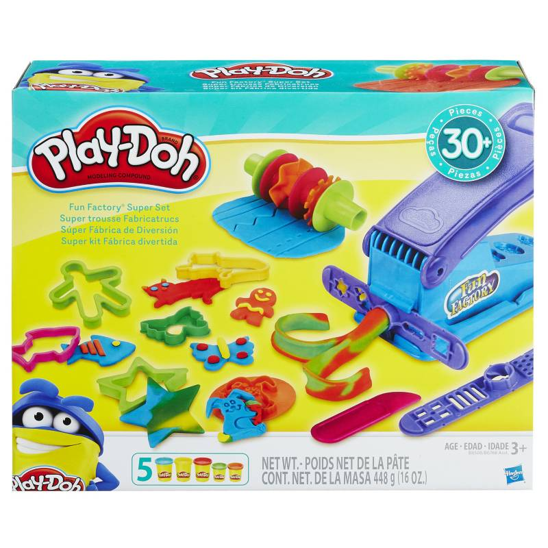 Play Doh - Kit Fábrica Divertida con 5 moldeables