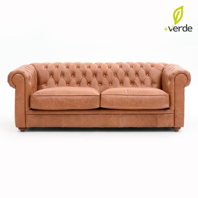 Basement Home - Sofá 200 cm Chesterfield Cuero