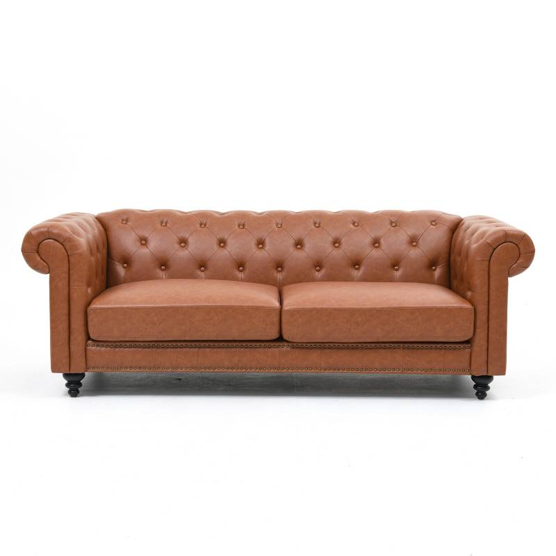 Basement Home - Sofá 3 Puestos Cuero Sintético Charlietown