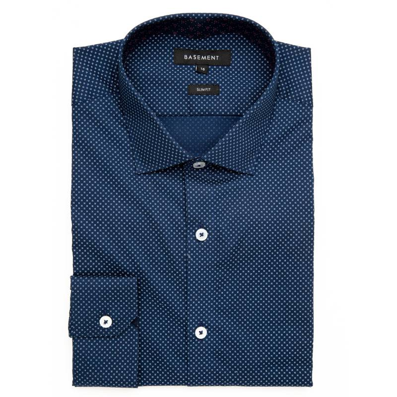 Basement - Camisa de Vestir Regular