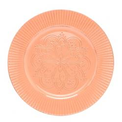 Plato Base Flor Peach 33 cm
