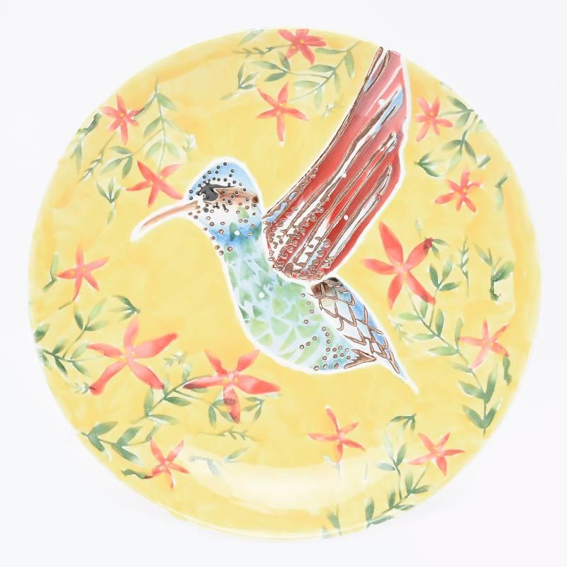 Roberta Allen - Plato de Ensalada Colibrí Amarillo 22 Cm