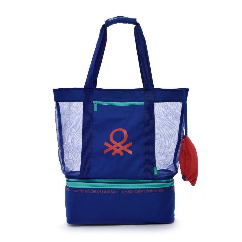 Benetton - Bolso Cooler Playero Azul