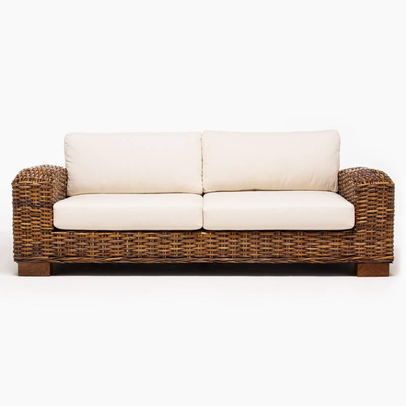 Basement Home - Sofá de Terraza 3 Puestos Madera Kretes
