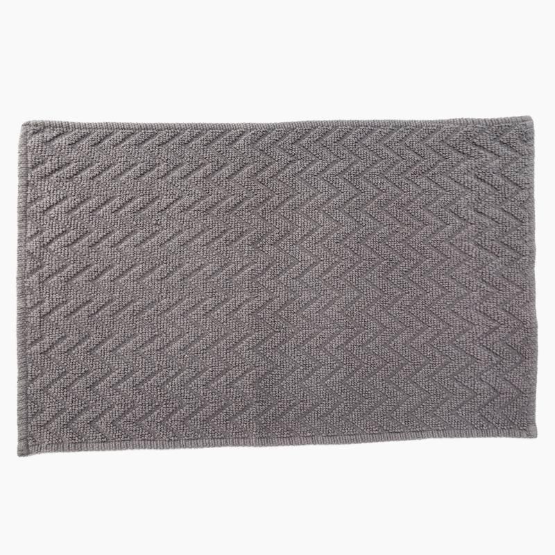 Basement Home - Tapete de Baño 50 x 80 cm Rombos Gris