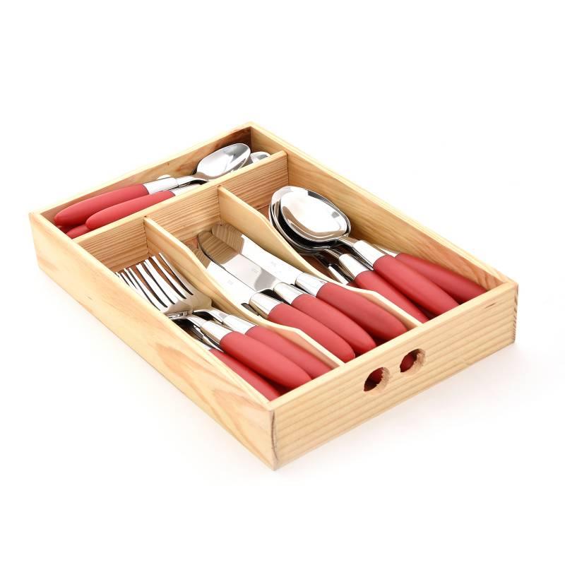 Mica - Set x24 Piezas Cuchillos de Madera