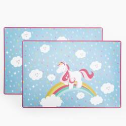 Mica Kids - Set x 2 Individuales Unicorn