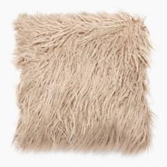 Basement Home - Cojines Cama Pelo Beige 45 x 45 cm